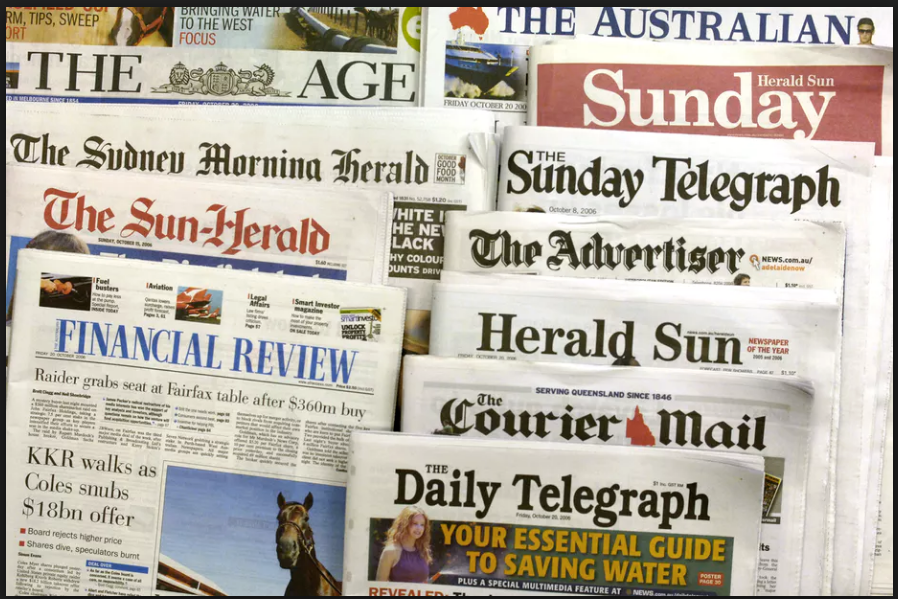 Newspaper headlines about the Pell Case
